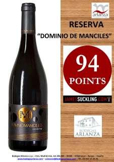 Rdeče vino Dominio de Manciles, Reserva