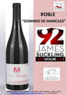 Rdeče vino Dominio de Manciles, Roble